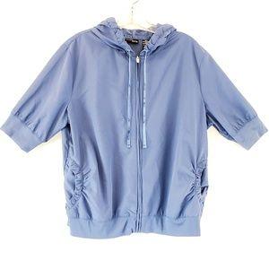 New York & Company Full Zip Hoodie Blue